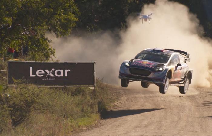lexar banner at WRC