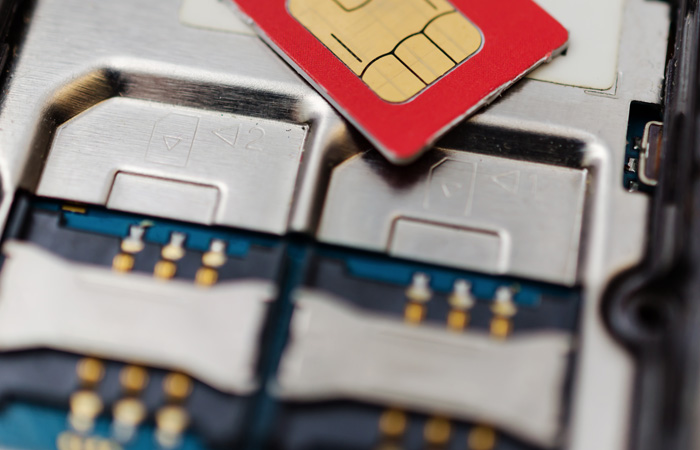 Image of phone sim card