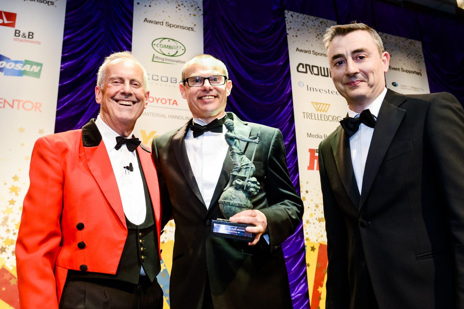 Winners Yale receiving FLTA Award from Giles Brandreth