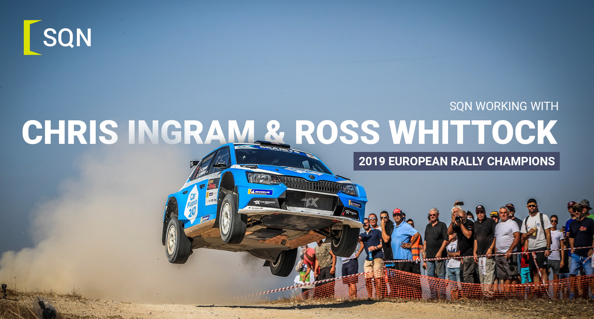 European Rally Champion Chris Ingram selects SQN to support career growth