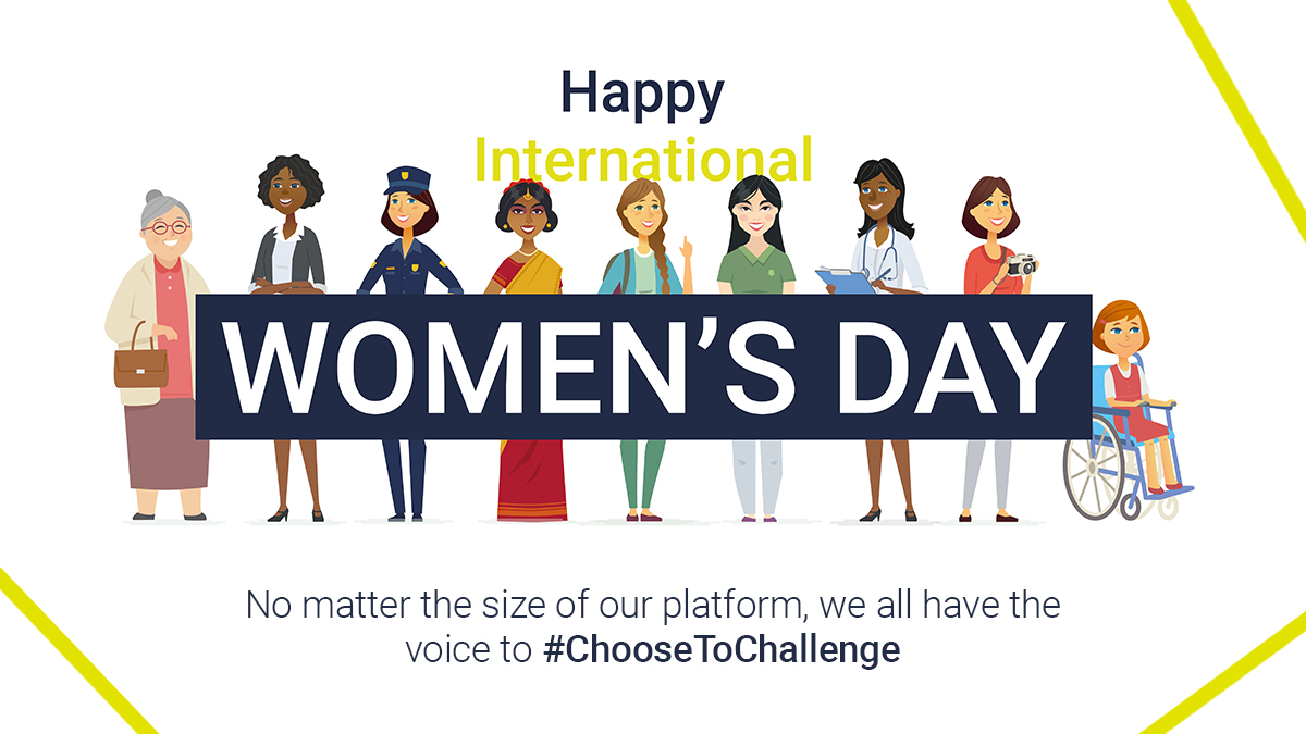 No matter the size of our platform, we all have the voice to #ChooseToChallenge