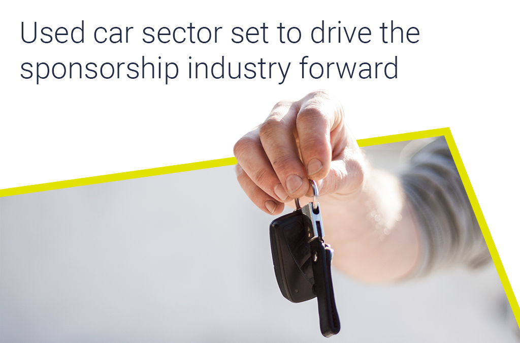 Used car sector set to drive the sponsorship industry forward