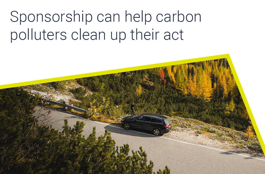 Sponsorship can help carbon polluters clean up their act